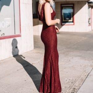 Lulus mermaid lace maxi dress